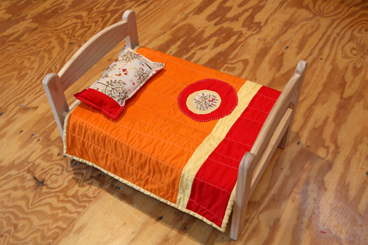 Modern doll quilts